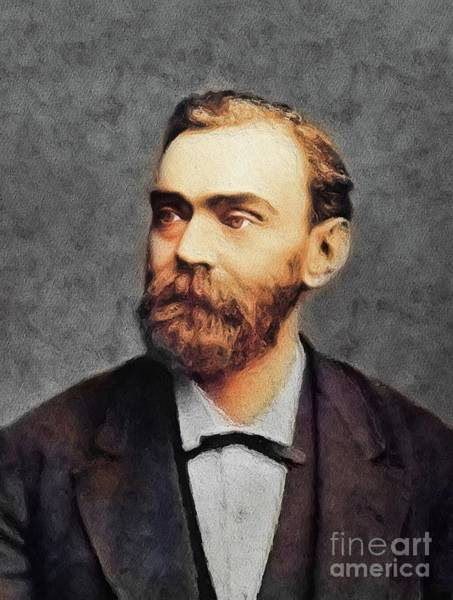 Invention Painting - Alfred Nobel, Famous Scientist by John Springfield