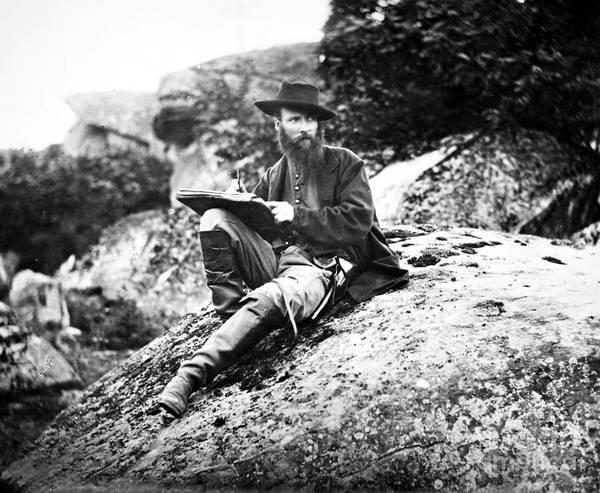 Gettysburg Battlefield Photograph - Alfred Waud (1828-1891) by Granger