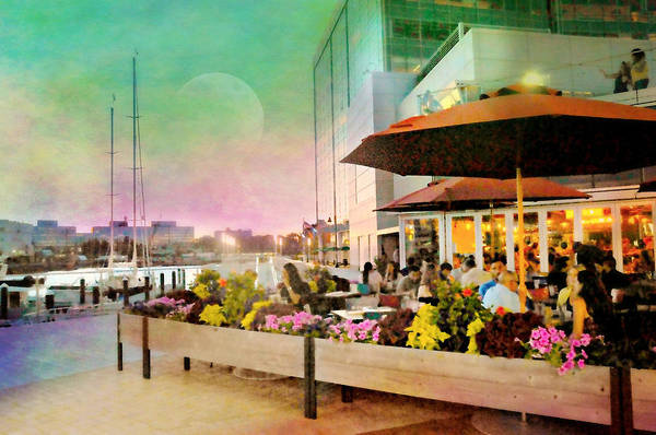 Wall Art - Photograph - Alfresco Harbor Point by Diana Angstadt