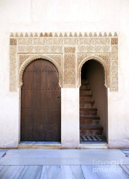 Ceramics Wall Art - Photograph - Alhambra Door And Stairs by Jane Rix