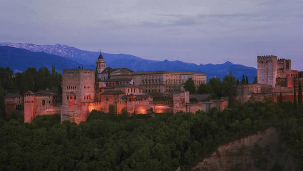 Photograph - Alhambra Granada Dusk by Joan Carroll