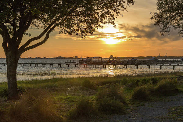 Photograph - Alhambra Hall Sunset Mt. Pleasant Sc by Donnie Whitaker