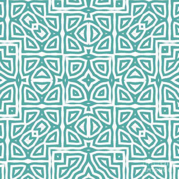 Wall Art - Painting - Alhambra Teal by Mindy Sommers