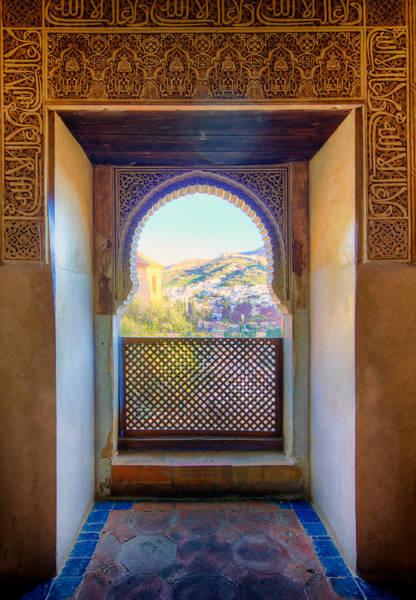 Photograph - Alhambra Window View by Adam Rainoff