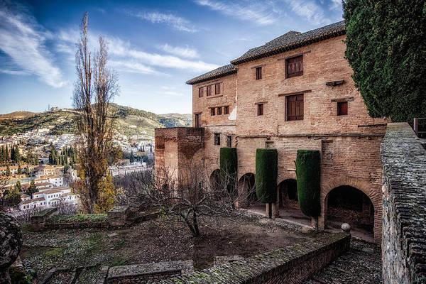 Photograph - Alhambra Winter Courtyard by Adam Rainoff