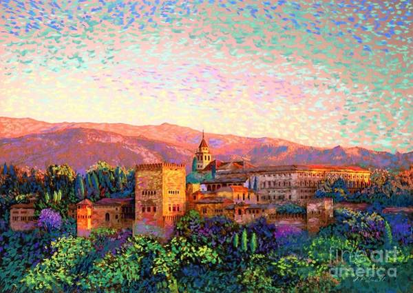 Destination Wall Art - Painting - Alhambra, Granada, Spain by Jane Small