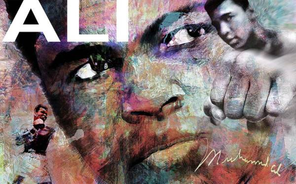 Sportsman Digital Art - Ali by Mal Bray
