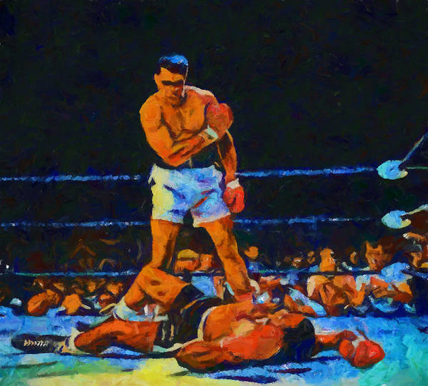 Wall Art - Painting - Ali Over Liston by Dan Sproul