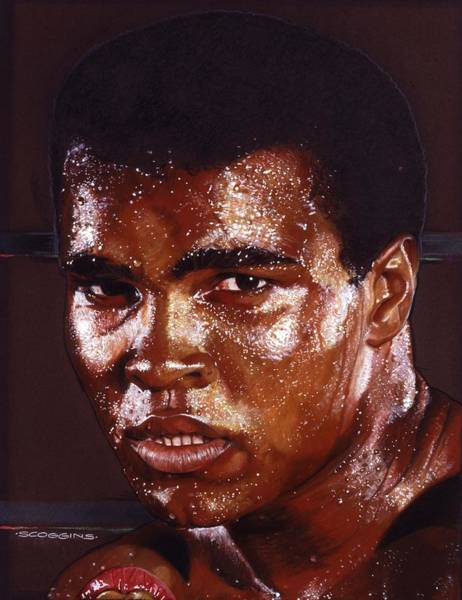 Wall Art - Painting - Ali by Timothy Scoggins