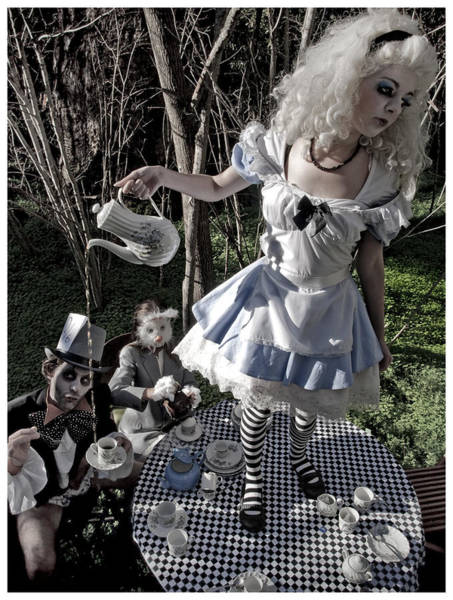 Alice In Wonderland Photograph - Alice And Friends 1 by Kelly Jade King
