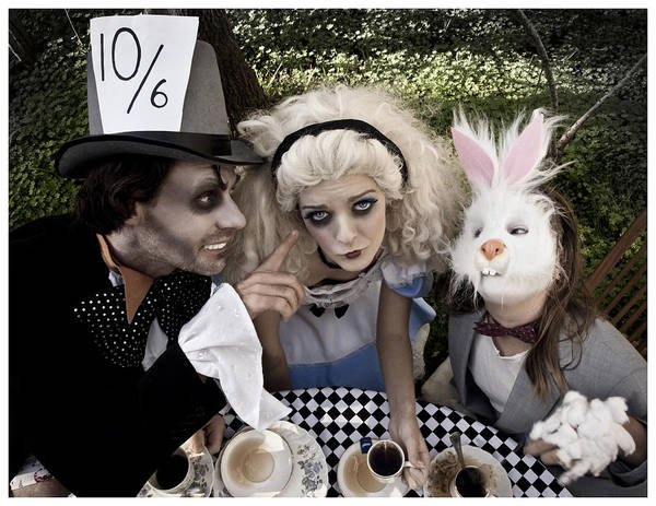 Alice In Wonderland Photograph - Alice And Friends 2 by Kelly Jade King