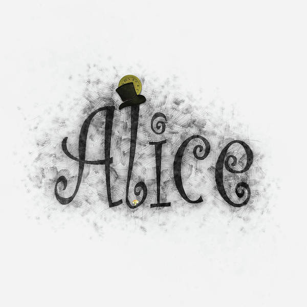 Drawing - Alice by Christina VanGinkel