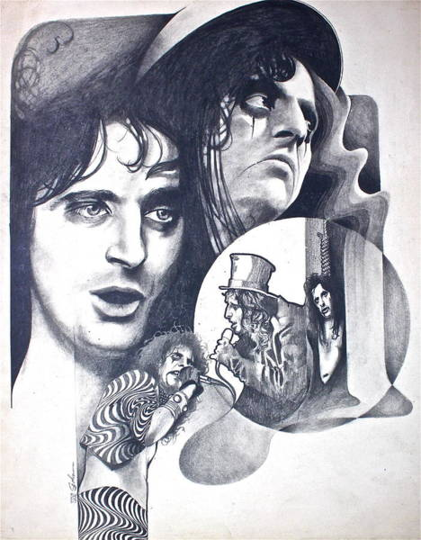 Drawing - Alice Cooper by Cliff Spohn