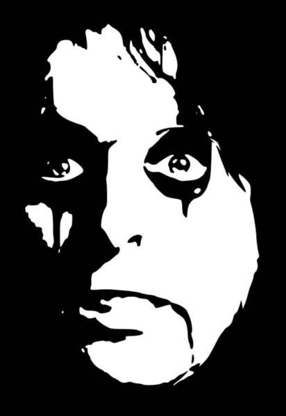 Alice Cooper Wall Art - Digital Art - Alice Cooper Pop Art by Filip Hellman