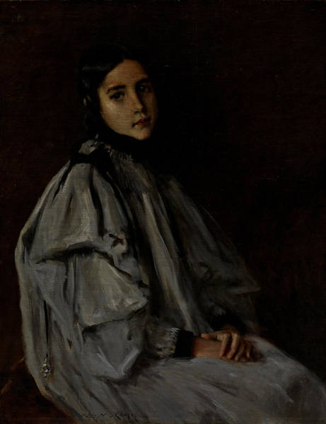 Plaits Painting - Alice Dieudonne Chase by William Merritt Chase