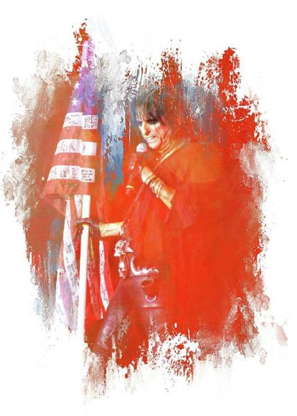Photograph - Alice In Patriotic Abstract by Alice Gipson