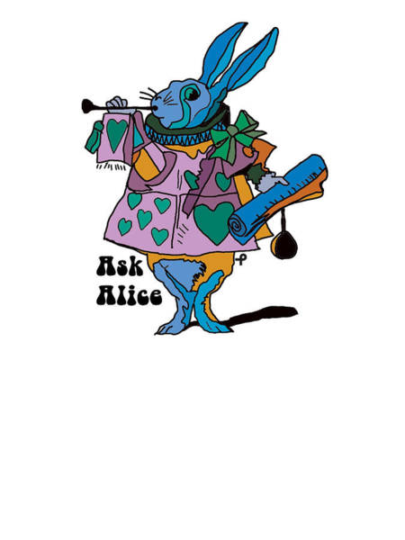 Print On Demand Digital Art - Alice In Wonderland - The White Rabbit One - Ask Alice by Paul Telling