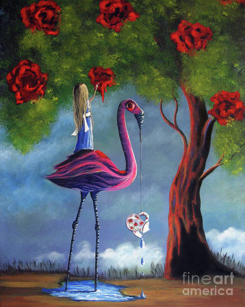 Imaginative Painting - Alice In Wonderland Artwork  by Erback Art