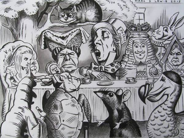 Alice Drawing - Alice In Wonderland by Marc D Lewis