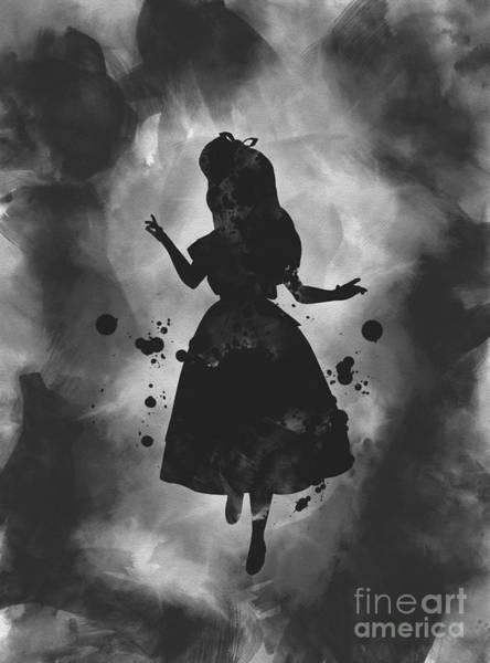 Wall Art - Mixed Media - Alice Noir by My Inspiration