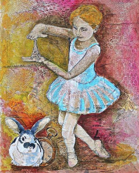 Fairy Cakes Painting - Alice Protecting The Eiffel Tower by Fleur Spolidor