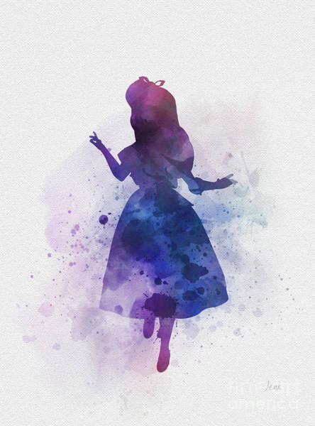 Wall Art - Mixed Media - Alice by My Inspiration