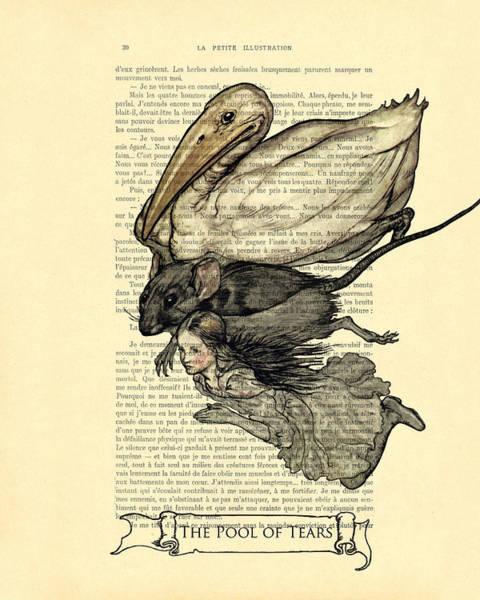 Wall Art - Digital Art - Alice's Adventures In Wonderland The Pool Of Tears by Madame Memento