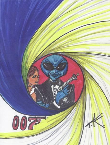 Drawing - alien Bond by Similar Alien
