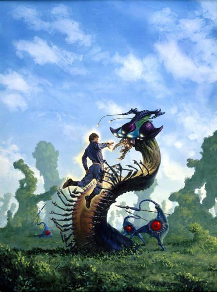 Wall Art - Painting - Alien Captive by Richard Hescox