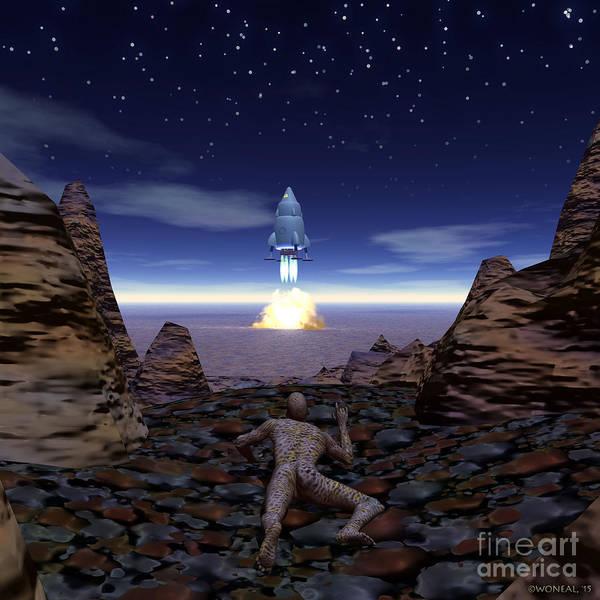 Digital Art - Alien Conquest by Walter Neal