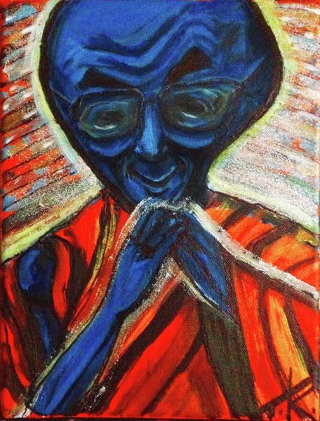 Painting - alien Dalai Lama by Similar Alien