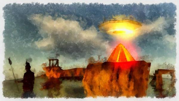 Crash Painting - Alien Home Planet by Esoterica Art Agency