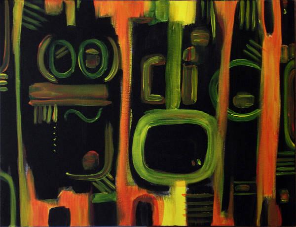 Painting - Alien Interception by Lynda Lehmann