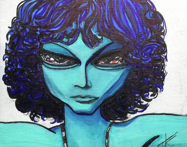 Painting - Alien Jim Morrison by Similar Alien