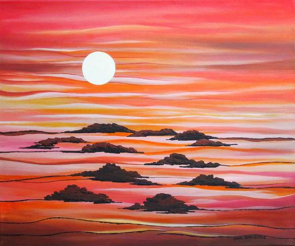 Wall Art - Painting - Alien Landscape by Carol Sabo