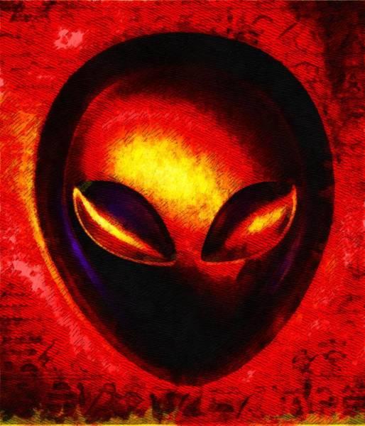 Saucer Painting - Alien Memory by Raphael Terra