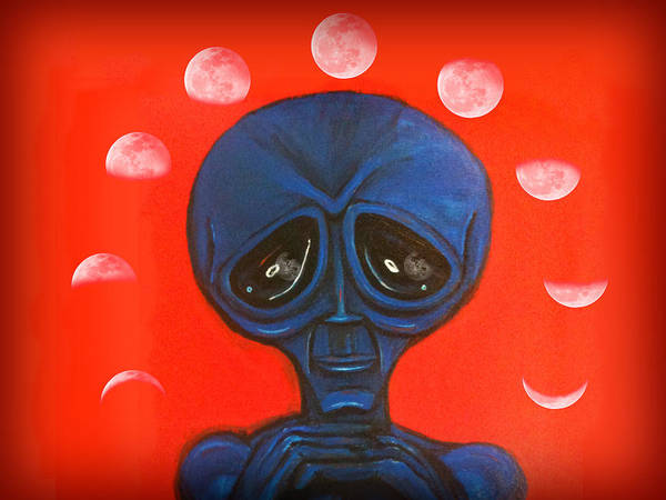 Painting - Alien Moonchild by Similar Alien