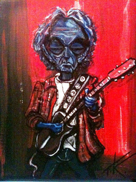 Painting - alien Neil Young by Similar Alien
