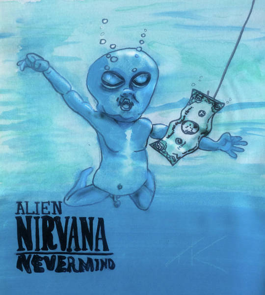 Painting - Alien Nevermind by Similar Alien