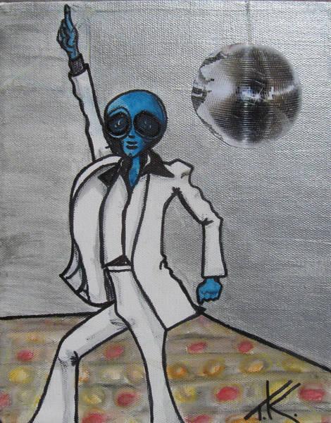 Painting - Alien Night Fever by Similar Alien