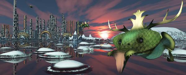 Digital Art - Alien Planet by Mary Almond