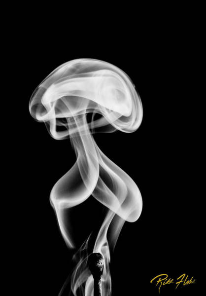 Photograph - Alien Smoke Creature by Rikk Flohr