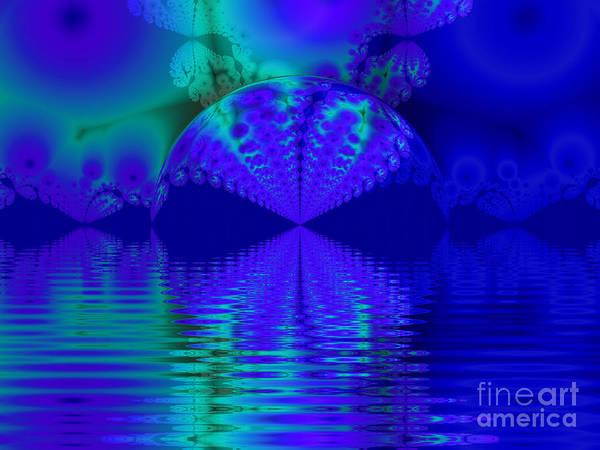 Alien Sunset Over Fantasy Lake Art Print