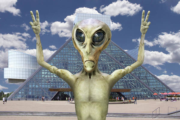 Folk Rock Photograph - Alien Vacation - R And R Hall Of Fame by Mike McGlothlen