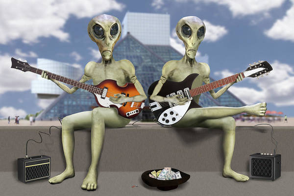 Spaceman Wall Art - Photograph - Alien Vacation - Trying To Make Ends Meet by Mike McGlothlen