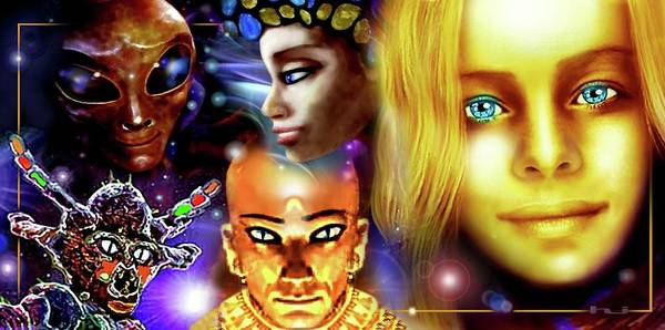 Mixed Media - Aliens by Hartmut Jager