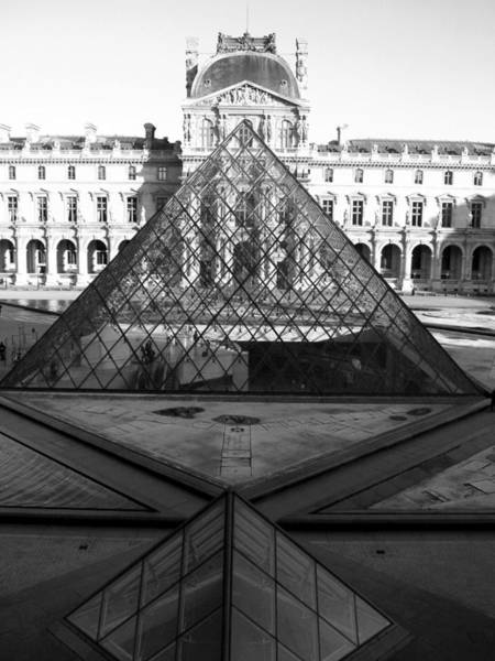Aligned Pyramids At The Louvre Art Print