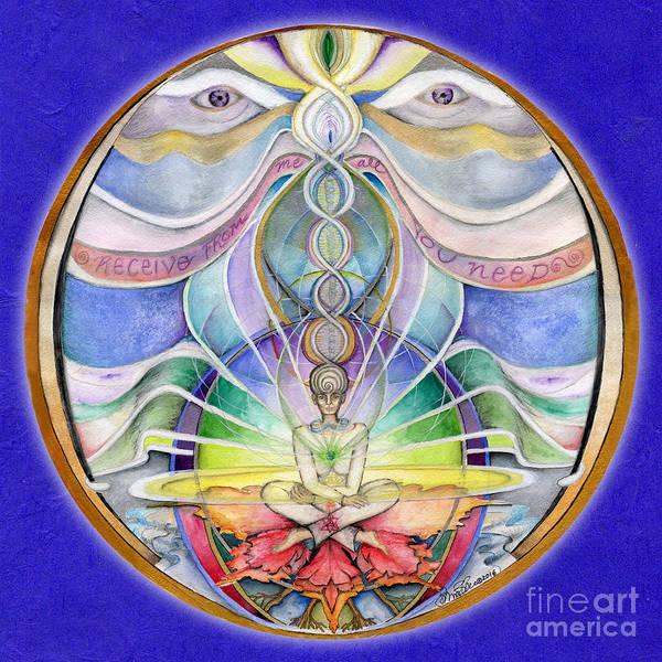 Painting - Alignment Mandala by Jo Thomas Blaine