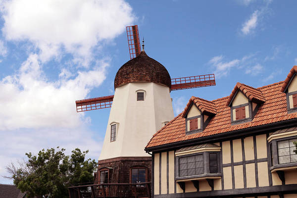 Solvang Photograph - Alisal Road Windmill by Art Block Collections