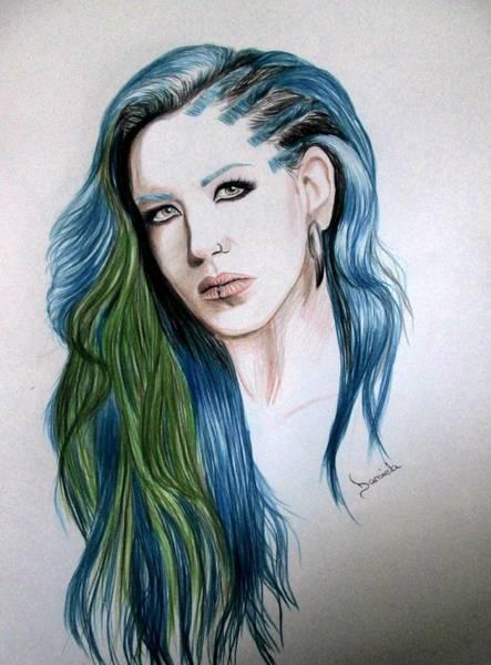 Vegan Drawing - Alissa White-gluz by Daniela Art